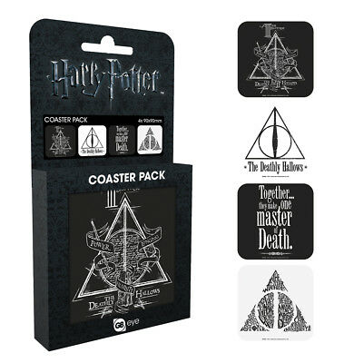 Harry Potter Deathly Hallows Coaster Pack Hogwarts Magic JK Rowling