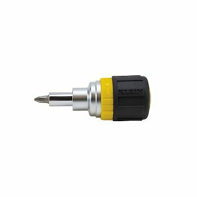 Klein 32593 6-in-1 Ratcheting Stubby Screwdriver / Nut Driver