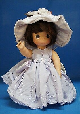 """Precious Moments 12"""" Vinyl Doll Signed 4313  Lovely in Lavender"""