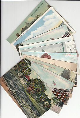 Lot of 10 Vintage Era Postcards Lynn Massachusetts Essex County Armory Church