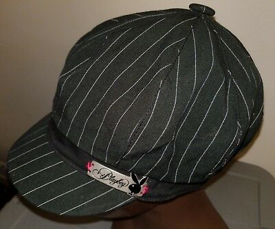 e76a0ebee61 Playboy Bunny Hat RN 115665 One size fits all Cap Hefner Vintage pink black  pin