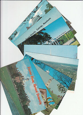Lot of 10 Harvard University College Cambridge Massachusetts Postcards VW Bus MA