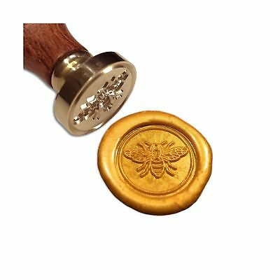 Retro Bee Wax Seal Stamp Wood Handle Sealing Stamp Wedding Invitation Decoration