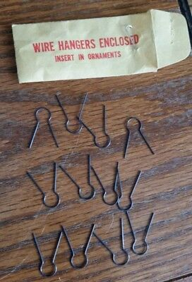 Vintage Wire Hangers to Insert in Christmas Ornament Caps-1 Doz.
