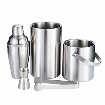 Fortune Candy Stainless Steel Bar Set, 5 Pieces Home Bar Tool Set with 52.8oz