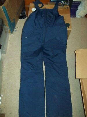 Unisex Youth Navy Blue Ski Pants Size Small 16 By Hot Gear Nylon Material