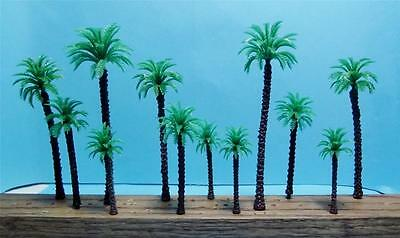 Multi Scale Use-12 Piece Assortment Of Model Coconut Palm Trees-4 Sizes