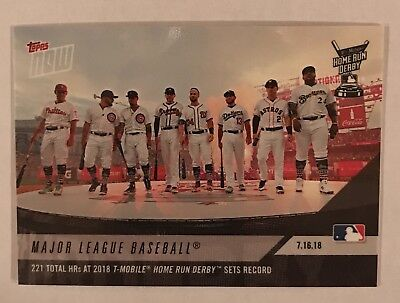 2018 TOPPS NOW 466: Home Run Derby Sets Record with 221 Home Runs