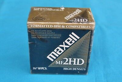 Maxell Mf 2Hd , Micro Floppy Disk - * New *