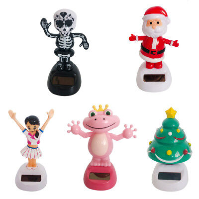 Solar Powered Dancing Figurines Statue Bobble Dancer for Car Display Decor