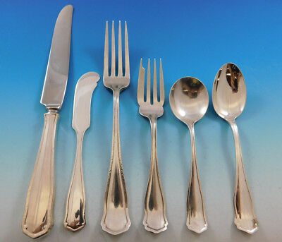 Dolores by Shreve Sterling Silver Flatware Set Service 36 pcs Arts Crafts Dinner