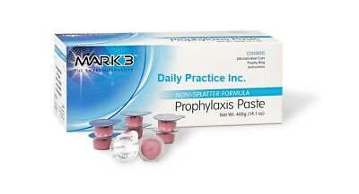 MARK3 Dental Prophy Prophylaxis Paste Non-Splatter All Flavors Grits Box/200