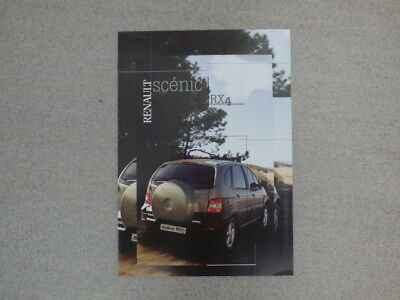 Catalogue / Brochure Renault Scénic RX4 Essence 01/2000