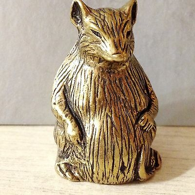Rat / Mouse bronze figurine miniature made in Russia for the collection