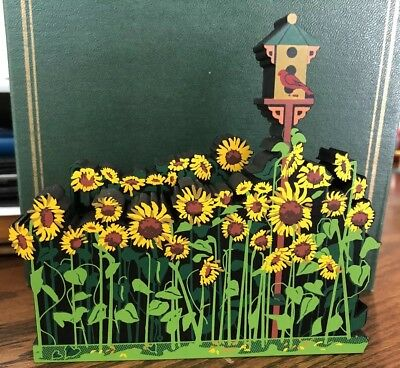 "Shelia's Collectible Wooden Figure My Favorite Places ""Sunflower Field"""