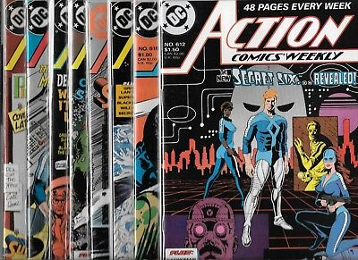 Action Comics Weekly Lot Of 7 #612 #619 #623 #624 #625 #629 #636 (Vf/nm Free 616
