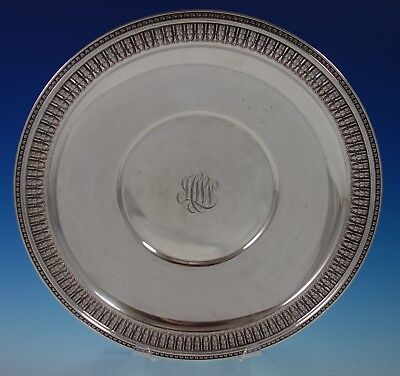 Frank Smith Sterling Silver Serving Plate Round w/ Acanthus Leaf Border (#2749)