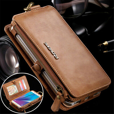 FLOVEME Luxury Retro Leather Wallet Phone Case Cover For Apple iPhone XS 8 6Plus
