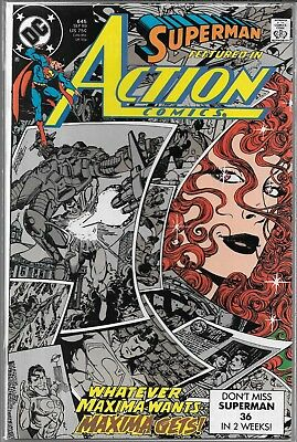 Action Comics #645 (Vf/nm) 1St Appearance Of Maxima, Copper Age Superman