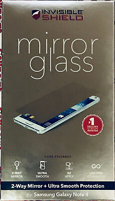 ZAGG Invisible Shield Mirror Glass Screen Protection For Samsung Galaxy Note 4