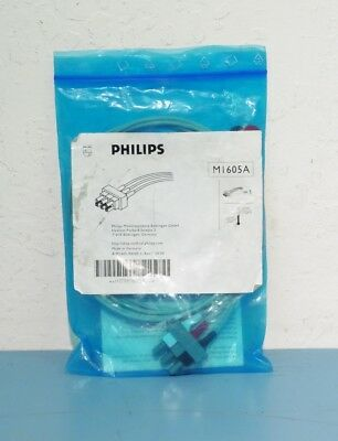 (New) Philips M1605A 3-Lead Dual Pin (Snap) ECG Leadwires