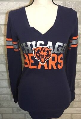 Pink Victorias Secret NFL Chicago Bears Waffle Top Lets Go All The Way Sz Small