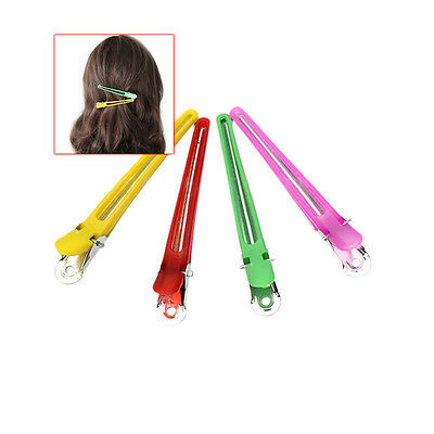 12pcs Colorful Hairdressing Salon Sectioning Clips Clamps Hair Styling Grip FO
