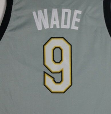Men s Cleveland Cavaliers Dwyane Wade  9 Gray New Season City Edition Jersey 69f339b54