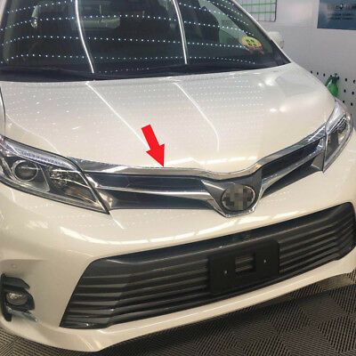 Fit For Toyota New Sienna 2018 Front Hood Grill Bonnet Trim Chrome ABS