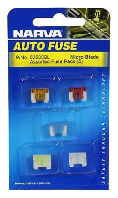 Narva Micro Blade Fuse 10Amp Pack of 5 52510BL Free Shipping!