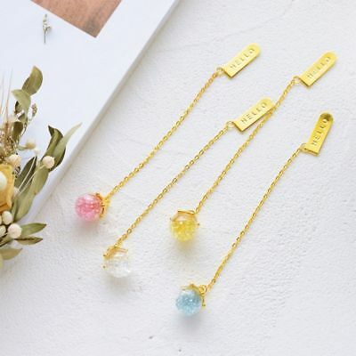 Creative Fashion Metal Crystal Bookmark Gold Color Chain Pendant Book Markers