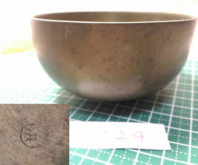 "Marked 3.602"" Japanese Vintage Buddhist Bell G524 Good Sound"