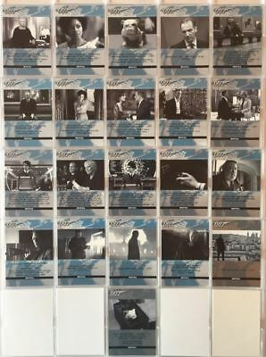 James Bond Autographs & Relics Quotable Chase Card Set  QS1- QS21 21 Cards