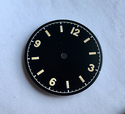 Vintage Bond12 Milsub Watch Dial for Seiko 7S26 NH35 Movement MOD Dirty Yellow