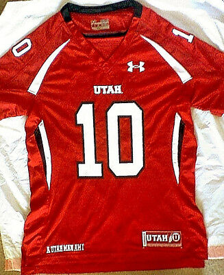 d455a560b UNDER ARMOUR - University Of Utah  10  Football Jersey Red S m Utes ...