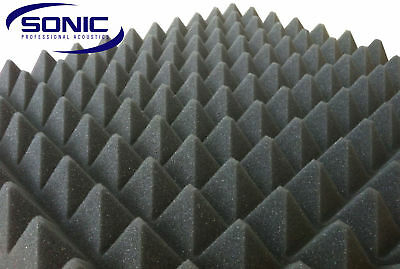 Pyramid Profile Acoustic foam sound treatment sheet 2000mm x 1200mm x 50mm