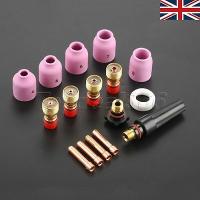 Fast Shipping 16× TIG Welding Gas Lens Collets Nozzles Back Cap DB SR WP17 18 26