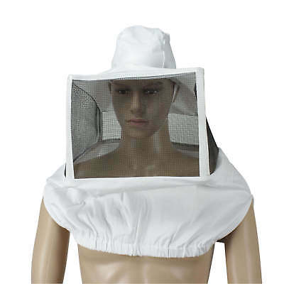 Beekeeper Fencing Veil Square Mask Folding Grid Breathable Cotton Beekeeper Hat