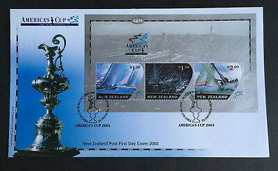 New Zealand 2002 FDC first day cover AMERICA'S CUP sailing