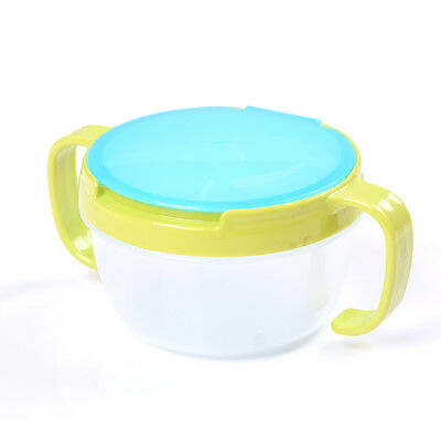 1X Toddler Baby No Spill Active Snack Snacker Useful Container Free Bowl Cup  R