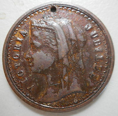 1887 Victoria Jubilee -Australia Celebrations 21 JUNE  Medal
