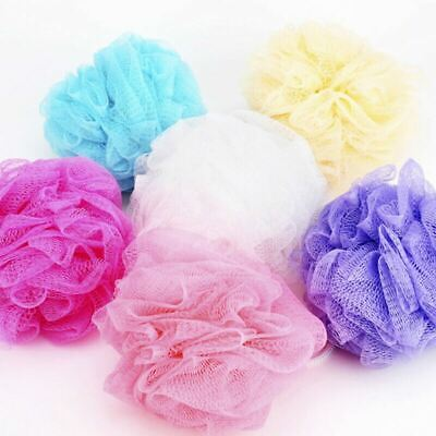 24 x MESH BODY PUFF WITH ROPE | Bath Loofah Shower Ball Pouf Exfoliating Loofah