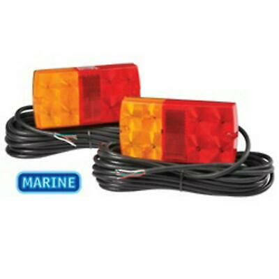 Narva 12V LED Slimline Submersible Trailer Lamp Pack w/ 9M of Hard-Wired Cable 9