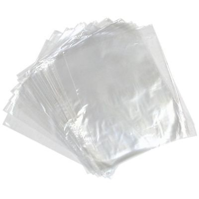 100 CLEAR Polythene Food Use FREEZER STORAGE Bags Strong Plastic Craft Packing