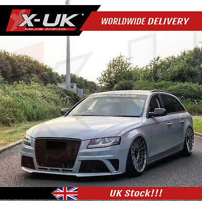 """Front bumper conversion upgrade for AUDI A4 / S4 """"B8"""" 2008-2012 with grill"""