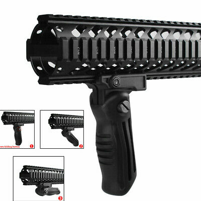 Adjustable Tactical Folding Foldable Vertical Foregrip Fore Grip for 20mm Rail