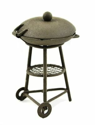 Miniature Dollhouse Fairy Garden Rustic Metal BBQ Grill - Buy 3 Save $5