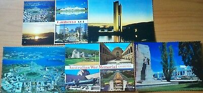 5 x 1980s Vintage Postcards - Canberra, ACT