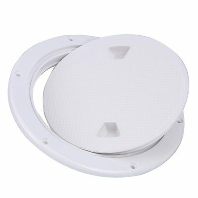 8'' Screw Out Deck Plate Inspection Hatch Plastic Round White For Marine Boat RV