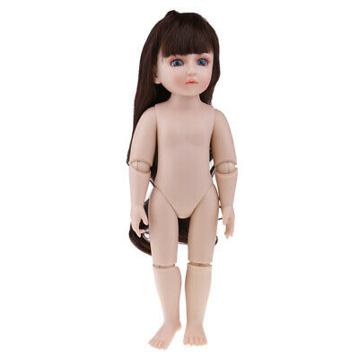 45cm Nude Jointed Dolls for SD BJD Girl Doll Ball Jointed Dolls DIY Making